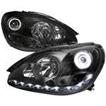 Spec-D Tuning Mercedes Benz W220 S-Class Projector Headlights - Black; 2000-2006