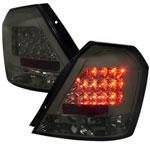 Spec-D Tuning Chevrolet Aveo Led Tail Lights Smoke; 2004-2008