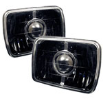 Spyder projector Headlights 7x6 - Black