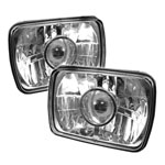 Spyder projector Headlights 7x6 - Chrome