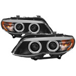 Spyder BMW X5 E53 Dual Projector Headlights - Xenon/HID Model Only - DRL LED - CCFL Halo - Black - (PRO-YD-BMWX503-HID-CCFL-BK); 2004-2006