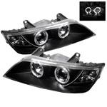 Spyder BMW Z3 Halo Projector Headlights - Black - (PRO-YD-BMWZ396-HL-BK); 1996-2002
