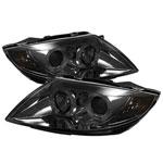Spyder BMW Z4 ( Non HID Type ) Halo Projector Headlights - Smoke - (PRO-YD-BMWZ403-HL-SM); 2003-2008
