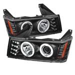 Spyder GMC Canyon Projector Headlights - Halogen Model Only- CCFL Halo - Black - (PRO-YD-CCO04-CCFL-BK); 2004-2012