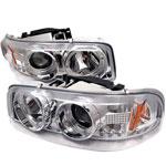 Spyder Gmc Sierra Sierra Denali / Yukon, Denali, Yukon XL Halo Led Projector Headlights - Chrome - (PRO-YD-CDE00-HL-C); 2000-2006
