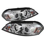 Spyder Chevrolet Impala CCFL LED ( Replaceable LEDs ) Projector Headlights - Chrome - (PRO-YD-CHIP06-CCFL-C); 2006-2013