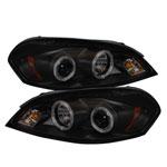 Spyder Chevy Impala Projector Headlights - LED Halo - LED - Black Smoke - (PRO-YD-CHIP06-HL-BSM); 2006-2013