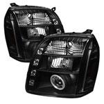 Spyder GMC Yukon Denali CCFL LED ( Replaceable LEDs ) Projector Headlights - Black - (PRO-YD-GY07-CCFL-BK); 2007-2012
