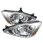 Spyder Honda Accord Halo LED ( Replaceable LEDs ) Projector Headlights - Chrome - (PRO-YD-HA03-AM-C); 2003-2007