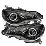 Spyder Subaru BRZ Projector Headlights- DRL LED - Black - (PRO-YD-SUBRZ12-BK); 2012-2018