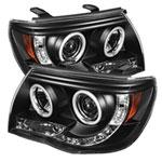 Spyder Toyota Tacoma CCFL LED ( Replaceable LEDs ) Projector Headlights - Black - (PRO-YD-TT05-CCFL-BK); 2005-2011