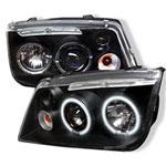 Spyder Volkswagen Jetta CCFL LED Projector Headlights - Black - (PRO-YD-VJ99-CCFL-BK); 1999-2005