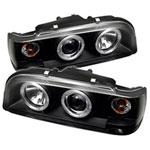 Spyder Volvo 850 Halo Projector Headlights - Black - (PRO-YD-VO85092-HL-BK); 1993-1997