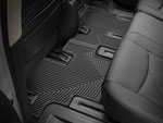 WeatherTech Rear Rubber Mats Toyota Land Cruiser - Black (3rd Row); 1998-2007