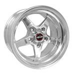 Race Star 92 Drag Star 15x10.00 5x5.00bc 5.50bs Direct Drill Polished Wheel; 0-0