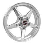Race Star 92 Drag Star 17x4.50 5x5.00bc 1.75bs Direct Drill Polished Wheel; 0-0