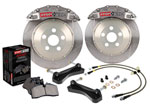 StopTech Cadillac Escalade Big Brake Kit 6 Piston STR Street Calipers & 2-Piece No Coating Drilled Rotors, Front; 2009-2016