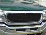 T-Rex GMC Sierra (All Models except C3) - Upper Class Bumper Mesh Grille - All Black (Mesh Only - No Frame); 2003-2006