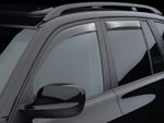 WeatherTech Rear Side Window Deflectors Mitsubishi Raider Extended Cab - Light Smoke; 2005-2016