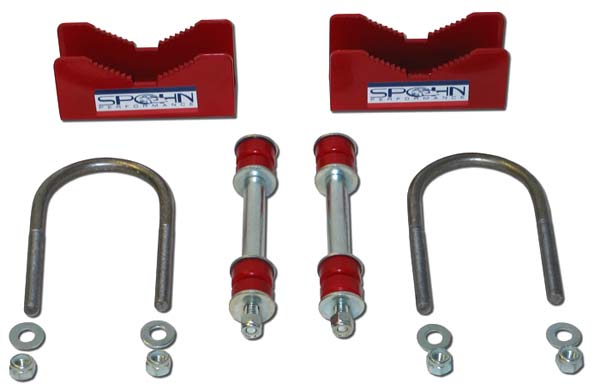 Spohn Performance 901P-300 - Spohn Moser 12 Bolt Rear Sway Bar Spacer Kit Powder Coated 1982-02 Camaro V8 / V6