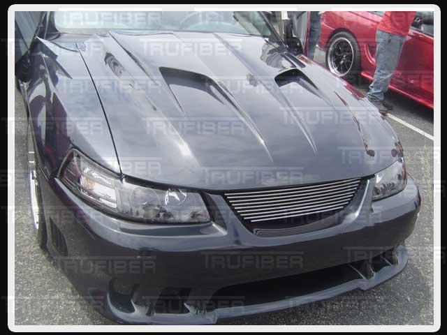 Mustang Mach 2 >> Trufiber Tf23 A38 Mustang Mach 2 Heat Extraction Hood V6 1999 2004