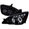 Spec-D Tuning Honda Accord Smoked Lens Gloss Black Housing Projector Headlights, 03-07
