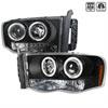Spec-D Dodge Ram Halo Projector - Black; 2002-2004
