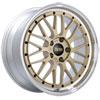 BBS LM278GPK | LM 19x8.5 5x120 ET32 Gold Center Diamond Cut Lip Wheel -82mm PFS/Clip Required Alternate Image 1