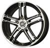 Enkei 434-770-8050bkm | FD-05 17x7 5x100 50mm Offset 72.62 Bore Dia Black Machined Wheel Alternate Image 1