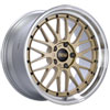 BBS LM272GPK   LM 19x10 5x120 ET25 Gold Center Polished Lip Wheel -82mm PFS/Clip Required Alternate Image 1