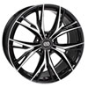 Enkei 505-775-8045bkm | ONX 17x7.5 45mm Offset 5x100 Bolt Pattern 72.6 Bore Dia Black Machined Wheel Alternate Image 1