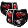 Spyder Lincoln Navigator Altezza Tail Lights - Black - (ALT-YD-LN03-BK); 2003-2006