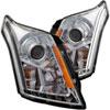 ANZO USA Cadillac Srx Projector Headlights W/ Plank Style Design Chrome; 2010-2015