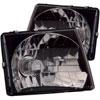 ANZO USA Toyota Tacoma Crystal Headlights Black, 1997-2000