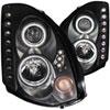 ANZO USA Infiniti G35 2dr Projector Headlights W/ Halo Black (Ccfl) (Hid Compatible); 2003-2007
