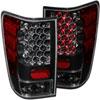 ANZO USA Nissan Titan W/O Bed Light Led Taillights Black; 2004-2015