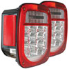 ANZO USA Jeep Wrangler Tj Led 2 Lens - Red/Clear, Chrome; 1996-2006