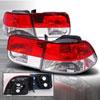 Spec-D 96-00 Honda Civic 2d Taillight Redclear (lt-cv962rpw-ks)
