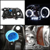 Spyder 5009791 |  Dodge Dakota 97-04 1PC Halo LED ( Replaceable LEDs ) Projector Headlights - Chrome  - (PRO-YD-DDAK97-C) Alternate Image 1