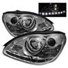 Spyder Mercedes Benz W220 S-Class 00-06 DRL LED Projector Headlights - Chrome  - (PRO-YD-MBW220-DRL-C)