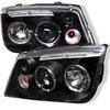 Spyder Volkswagen Jetta 99-05 Halo LED Projector Headlights - Black  - (PRO-YD-VJ99-HL-BK)