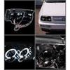 Spyder 5012258 |  Volkswagen Jetta Halo LED Projector Headlights - Black - (PRO-YD-VJ99-HL-BK); 1999-2005 Alternate Image 1