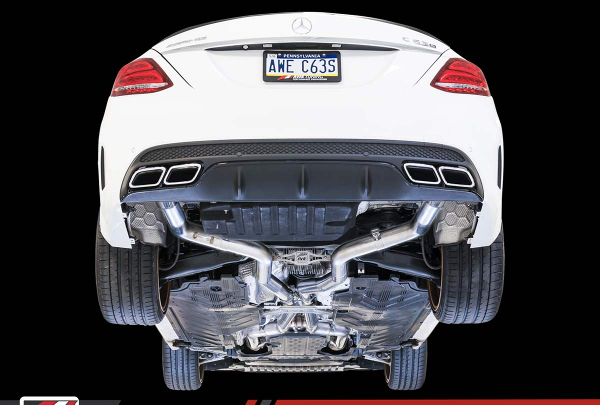 AWE Tuning 3025-31036 | Mercedes-Benz AMG C63 S Sedan 4 0L Turbo W205  SwitchPath Exhaust System - for Dynamic Perf  Exhaust cars (no tips)