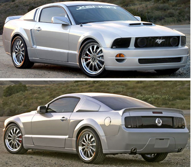 xenon 12120 xenon mustang gt r body kit 2005 2009 mustang v8. Black Bedroom Furniture Sets. Home Design Ideas