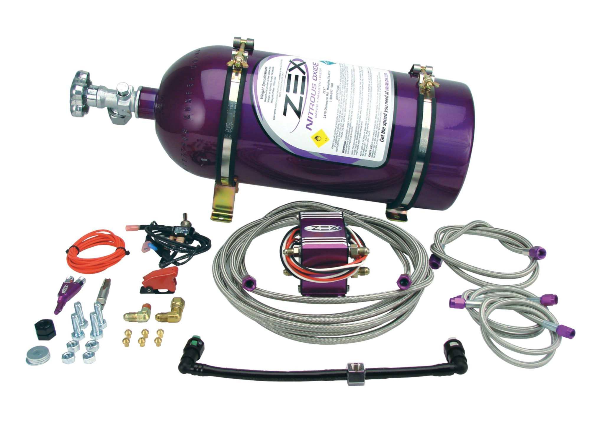 Zex 82177 - Zex EFI Wet Nitrous System - Charger / Magnum 5.7L HEMI 75-125HP